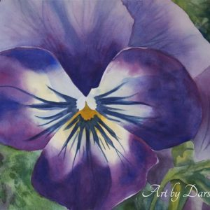 darshanie sukhu watercolor pansy courage