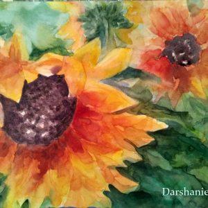 darshanie sukhu watercolor sunflower happy