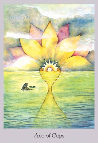 Ace of Cups - The Lovely Om Tarot