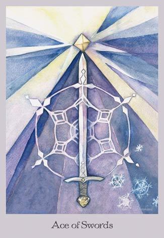 Ace of Swords - The Lovely Om Tarot