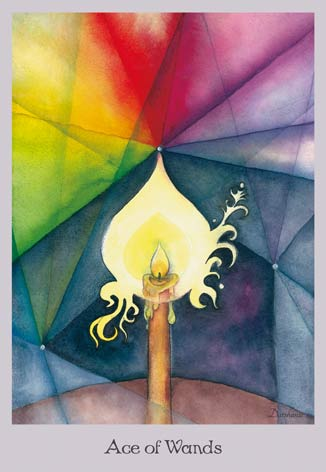 Ace of Wands - The Lovely Om Tarot