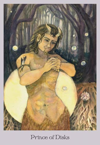 Prince of Disks - The Lovely Om Tarot