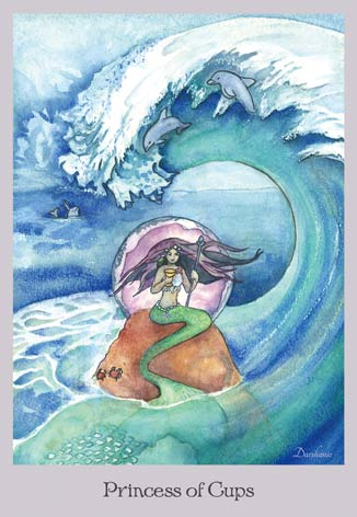Princess of Cups - The Lovely Om Tarot