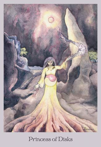 Princess of Disks - The Lovely Om Tarot