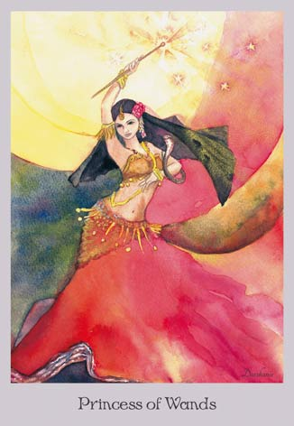 Princess of Wands - The Lovely Om Tarot