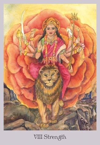 Strength - Devi - The Lovely Om Tarot