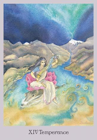 Temperance - Ganga - The Lovely Om Tarot
