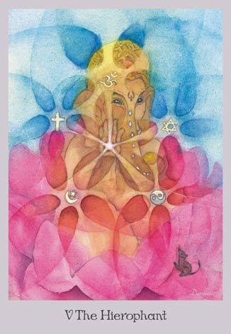 The Hierophant - Lord Ganesha - The Lovely Om Tarot