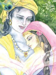 Two of Cups - Radha Krishna - The Lovely Om Tarot