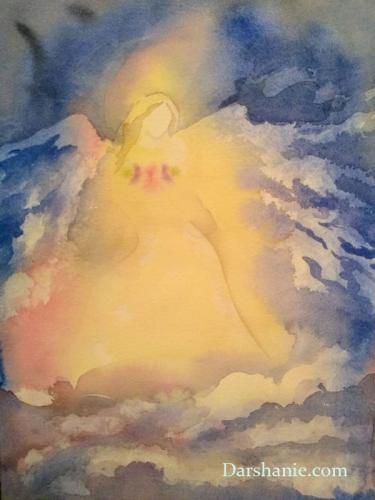 darshanie sukhu watercolor angel light